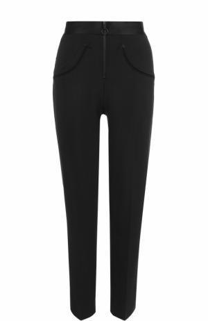 Укороченные брюки прямого кроя со стрелками Alexander Wang. Цвет: черный