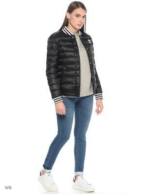 Куртка BLOUSON JACKET BLACK Adidas. Цвет: черный