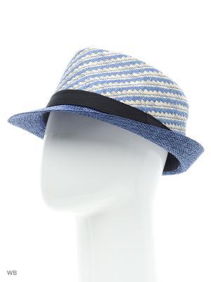 Шляпа Modis. Цвет: темно-синий, серо-голубой, белый