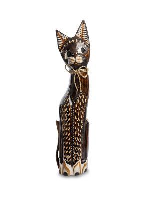 Статуэтка Кошка 50см (албезия, о.Бали) Decor & gift. Цвет: коричневый
