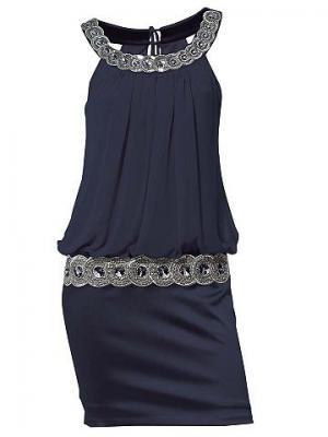 Коктейльное платье CARRY ALLEN. Цвет: темно-синий