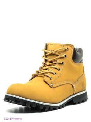 Ботинки Ascot. Цвет: горчичный