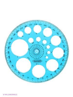 Транспортир пластиковый 360 градусов Centrum. Цвет: голубой