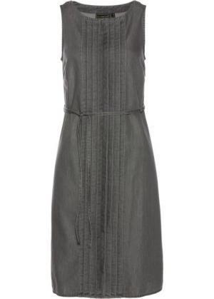 Джинсовое платье (серый деним) bonprix. Цвет: серый деним