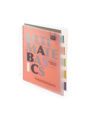 Бизнес-блокнот-2 а4-, 150 л. гр., разделители, пластиковая обл. ultimate basics, оранжевый Альт. Цвет: оранжевый