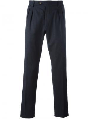Прямые брюки со складками Al Duca D'Aosta 1902. Цвет: синий