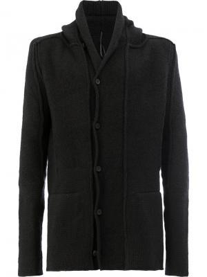 Кардиган-пальто с капюшоном Masnada. Цвет: синий