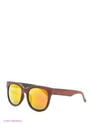 Солнцезащитные очки Oodji. Цвет: бордовый, бежевый