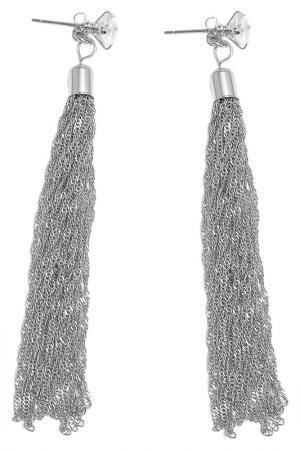 Серьги Asavi Jewel. Цвет: серебряный