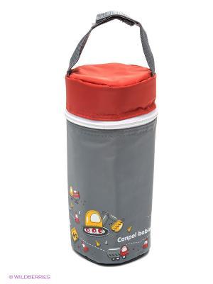 Термоупаковка для бутылочек Canpol babies. Цвет: серый