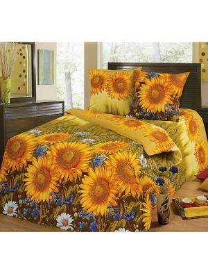 Постельное белье Арт Постель. Цвет: оранжевый, золотистый