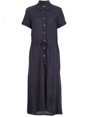 Платье-рубашка Raquel Allegra. Цвет: чёрный