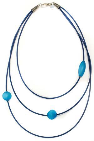 Бусы ISIDORA Divetro. Цвет: голубой