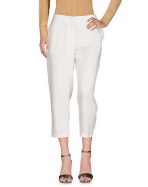 Повседневные брюки SOUVENIR. Цвет: белый