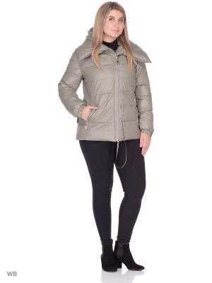 Куртка SML. Цвет: оливковый