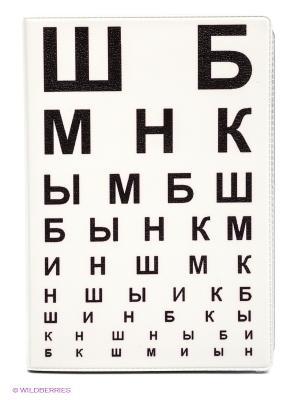 Обложка для автодокументов ШБ Mitya Veselkov. Цвет: белый, черный