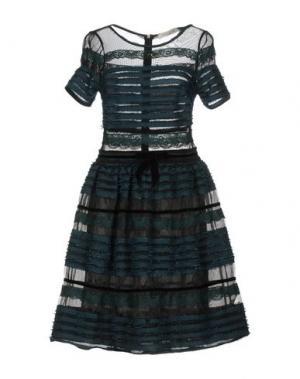 Короткое платье SONIA FORTUNA. Цвет: цвет морской волны