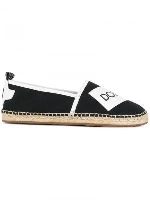 Эспадрильи с логотипом Dolce & Gabbana. Цвет: чёрный