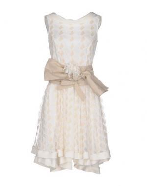 Короткое платье SONIA FORTUNA. Цвет: слоновая кость