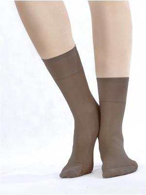 Носки, 2 пары Knittex. Цвет: серо-коричневый