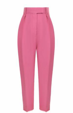 Укороченные брюки-бананы с широким поясом Haider Ackermann. Цвет: розовый