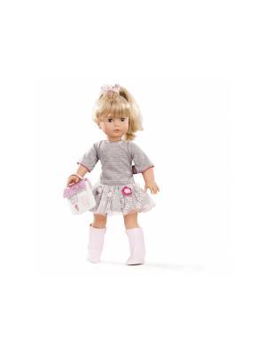 Кукла Джессика блондинка в сером GOTZ. Цвет: белый, розовый, серый
