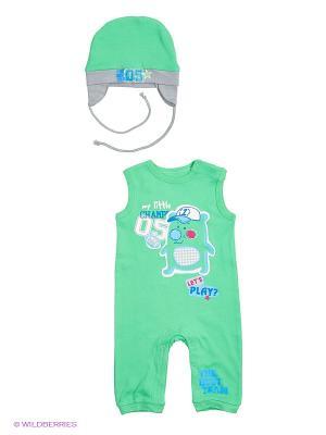 Комплект одежды PELICAN. Цвет: зеленый, светло-серый