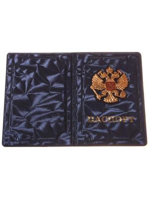 Обложка на паспорт с металлическим гербом, фиолетовый Радужки. Цвет: фиолетовый