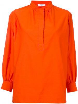 Блузка с воротником стойкой Atlantique Ascoli. Цвет: жёлтый и оранжевый