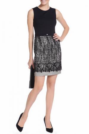 Платье XS MILANO. Цвет: черный, кружево