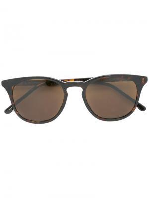 Солнцезащитные очки в круглой оправе Komono. Цвет: чёрный
