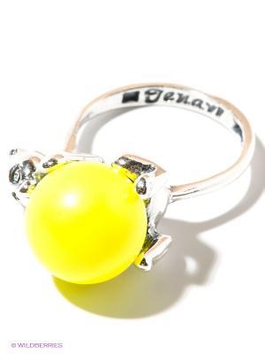 Кольцо Jenavi. Цвет: желтый, серебристый