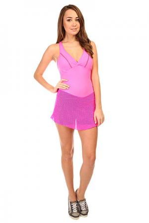 Комбинезон для фитнеса женский  Trend Suit Jump Pink CajuBrasil. Цвет: розовый