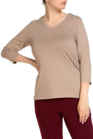Блуза HELENA VERA. Цвет: серо-коричневый
