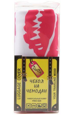 Чехол на чемодан SOVA COVER. Цвет: поцелуйки