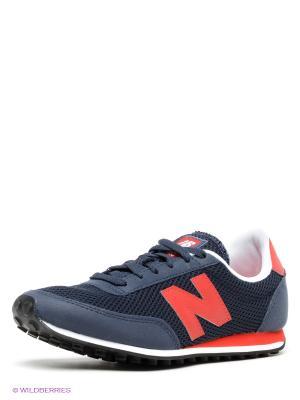 Кроссовки, New Balance, U410 balance. Цвет: темно-синий, красный