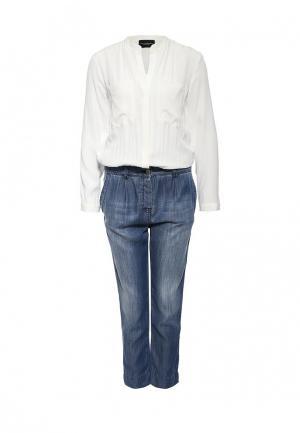 Комбинезон джинсовый Atos Lombardini. Цвет: разноцветный
