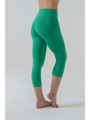 Леггинсы женские 3/4 Капри yogadress. Цвет: зеленый