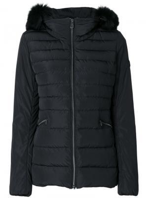 Куртка с меховой оторочкой Peuterey. Цвет: чёрный