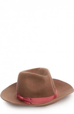 Шляпа Eugenia Kim. Цвет: темно-бежевый