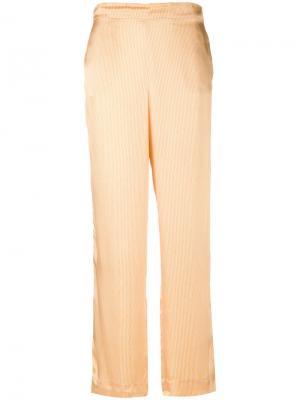 Пижамные брюки Asceno. Цвет: жёлтый и оранжевый