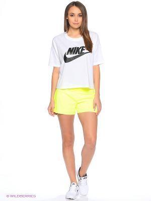 Футболка W NSW SIGNAL TOP CROP Nike. Цвет: белый
