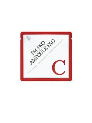 Диски для лица с Витамином (10%) и Комплексом масел I,m Pro Ampoule Pad-C Wish Formula. Цвет: красный