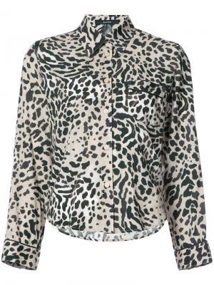 Рубашка с леопардовым принтом Smythe. Цвет: многоцветный