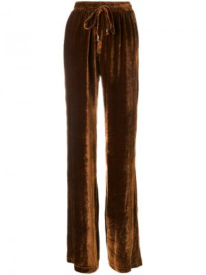 Брюки со шнурком Plein Sud. Цвет: коричневый