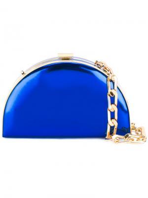 Клатч полу-круглой формы Alessandra Rich. Цвет: синий