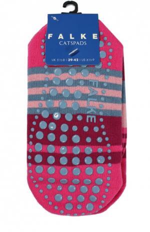 Носки Catspads в полоску Falke. Цвет: фуксия