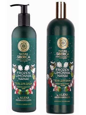 Набор Алёна Ахмадулина Пена для ванн + Гель душа Natura Siberica. Цвет: розовый
