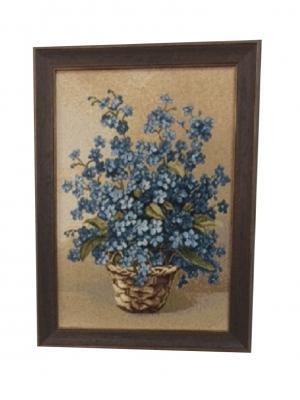 Гобеленовая картина 24х34 см Рапира. Цвет: голубой, зеленый