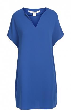 Платье свободного кроя с коротким рукавом и V-образным вырезом Diane Von Furstenberg. Цвет: синий